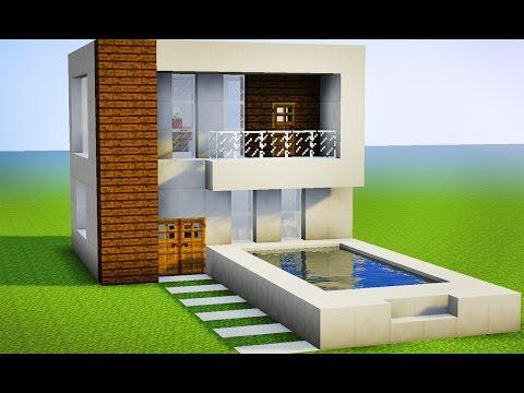 Minecraft como fazer sua primeira casa moderna pequena for Casa moderna survival minecraft