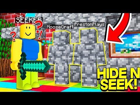 Roblox Hide And Seek Roblox Hide And Seek In Minecraft W Prestonplayz Moosecraft Minecraft Videos