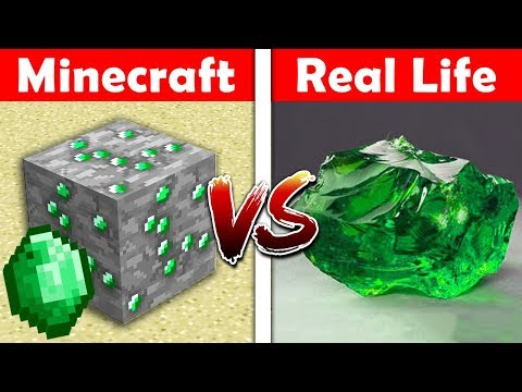 minecraft emerald in real life minecraft vs real life animation