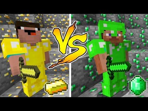 Minecraft Noob Vs Pro Gold Or Emerald Battle In Minecraft