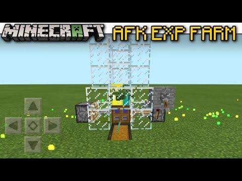 minecraft afk exp xp farm automatic tutorial mcpe