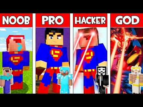 Minecraft Noob Vs Pro Vs Hacker Vs God Superman In Minecraft