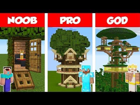 Minecraft Noob Vs Pro Jungle Tree House Challenge In Minecraft Animation Minecraft Videos