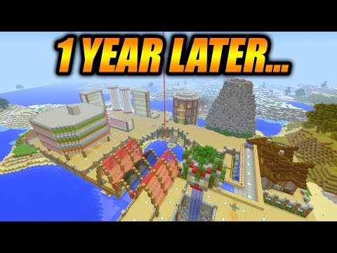 This Is What I Made In Minecraft Survival In Only 1 Year