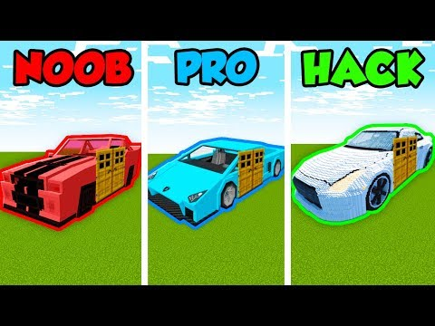 Minecraft Noob Vs Pro Vs Hacker Super Car Base In Minecraft